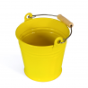 Wiaderko metalowe, żółte
