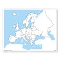 Europa - mapa do pracy