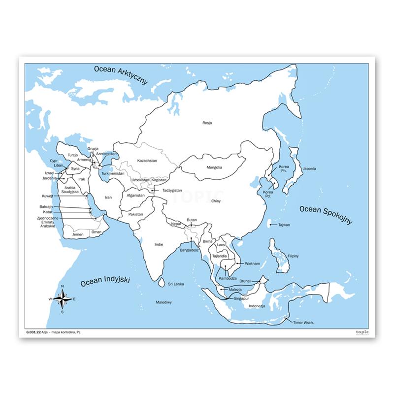 Azja Mapa Kontrolna Pl