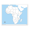 Afryka - mapa do pracy