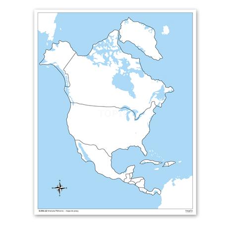 Ameryka Polnocna Mapa Do Pracy