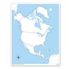 Ameryka Północna - mapa do pracy
