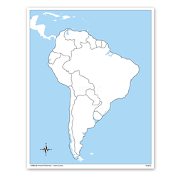 Ameryka Południowa - mapa do pracy