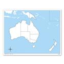 Australia - mapa do pracy