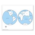 Mapa świata - mapa kontrolna, PL