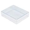 Pudełko plastikowe: 10,1 x 8,1 x 2,4 cm.