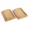 Małe drewniane tace, 2 szt