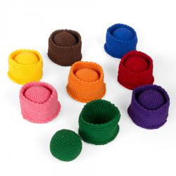 Koszałki z piłeczkami, zestaw 3