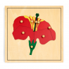 Puzzle botaniczne - kwiat