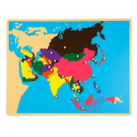 Puzzlowa mapa Azji