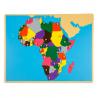 Puzzlowa mapa Afryki
