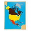 Puzzlowa mapa Ameryki Północnej