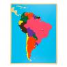 Puzzlowa mapa Ameryki Południowej