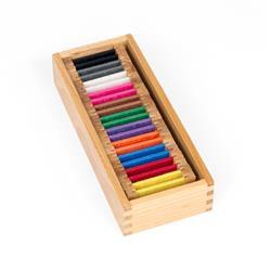 Kolorowe tabliczki - jedwab: pudełko nr 2-7597