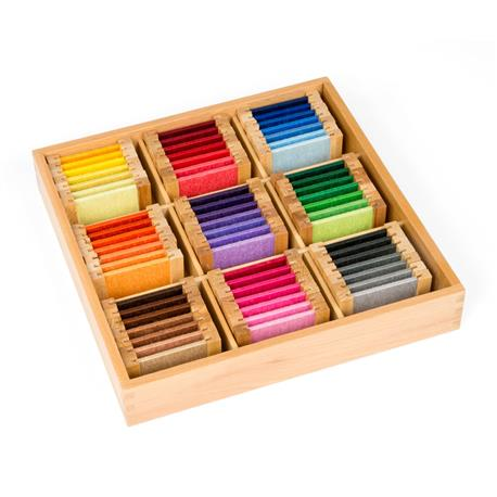 Kolorowe tabliczki - jedwab: pudełko nr 3-7599