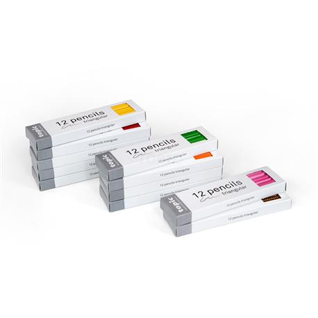 Trójkątne kredki: 11 kolorów po 12 sztuk-7969