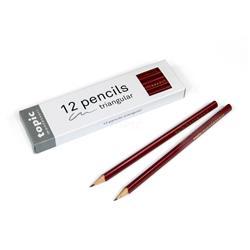Trójkątne ołówki HB, 12 szt-7970