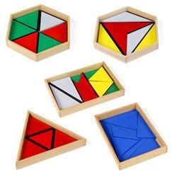 Trójkąty konstrukcyjne, 5 pudełek-7265