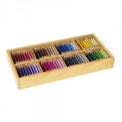 Kolorowe tabliczki: pudełko nr 4, jedwab-8386