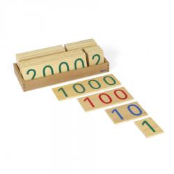Duże drewniane karty z liczbami, 1-9000 -8044