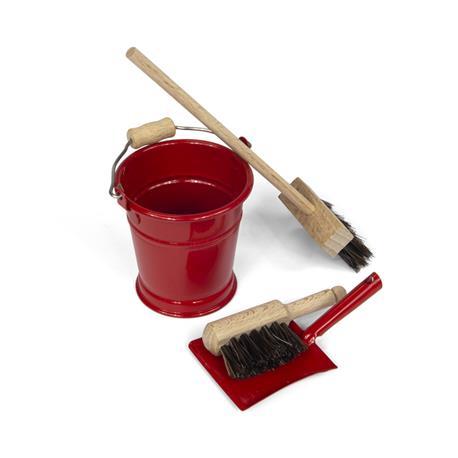 Mini zestaw do sprzątania, czerwony-8454