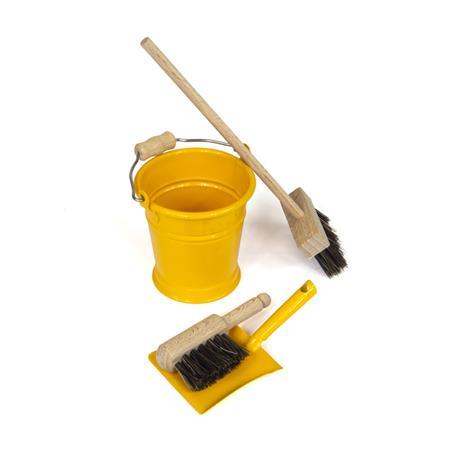 Mini zestaw do sprzątania, żółty-8456