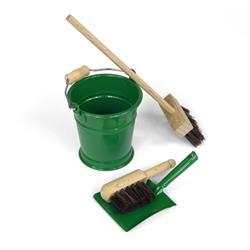 Mini zestaw do sprzątania, zielony-8458