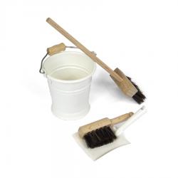 Mini zestaw do sprzątania, biały-8455