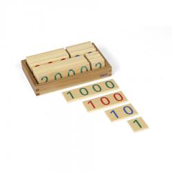 Małe drewniane karty z liczbami, 1-9000-8046