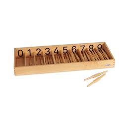 Pudełko z wrzecionkami, cyfry drukowane-8583