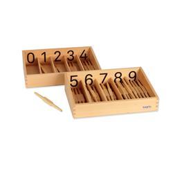 Pudełka z wrzecionkami, cyfry drukowane-8584