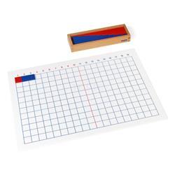 Dodawanie: tablica i pudełko z listewkami