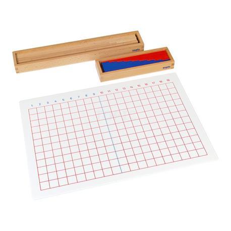 Odejmowanie: tablica i pudełko z listewkami-8940