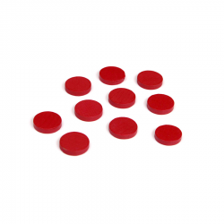Drewniane żetony: czerwone (100)