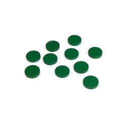 Drewniane żetony: zielone (100)-8914