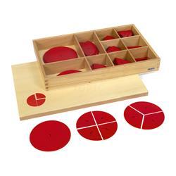 Pudełko z plastikowymi kółkami do ułamków-9191