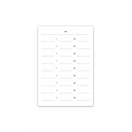 Odejmowanie: tabelki do pracy (200)-9315